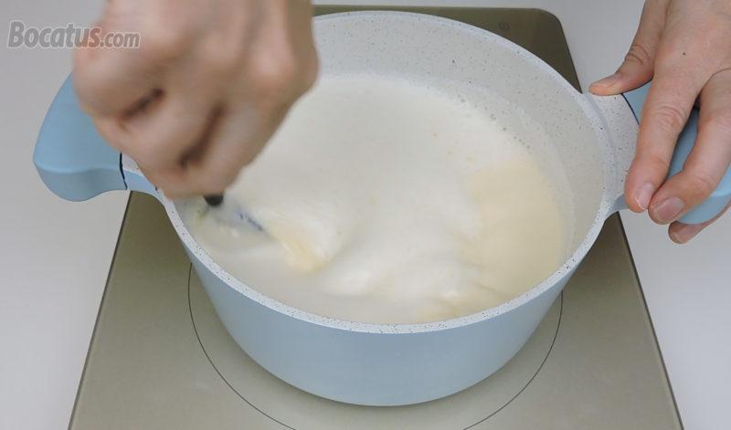 Preparando las natillas