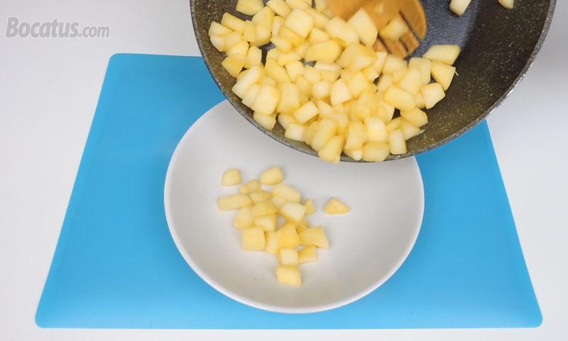 Relleno de manzana