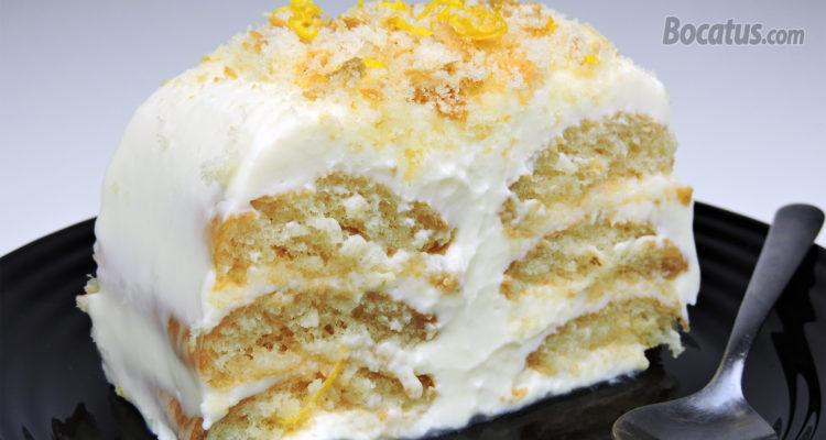 Pastel de Limón ¡¡ sin horno y solo 4 ingredientes !!