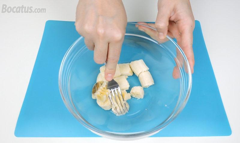 Machacando los plátanos