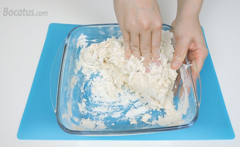 Preparando la masa de pan