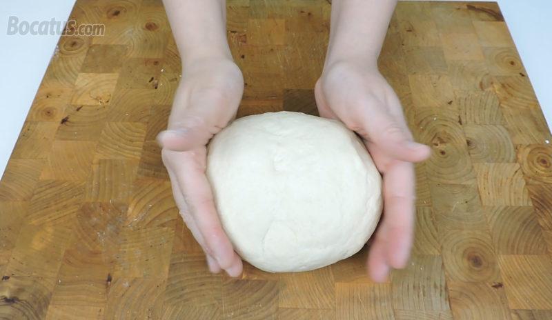 Masa de pan ya amasada