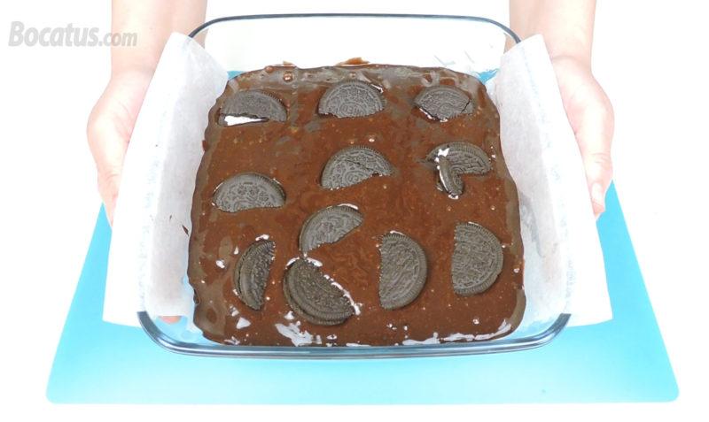 Brownie de Oreo antes de hornear