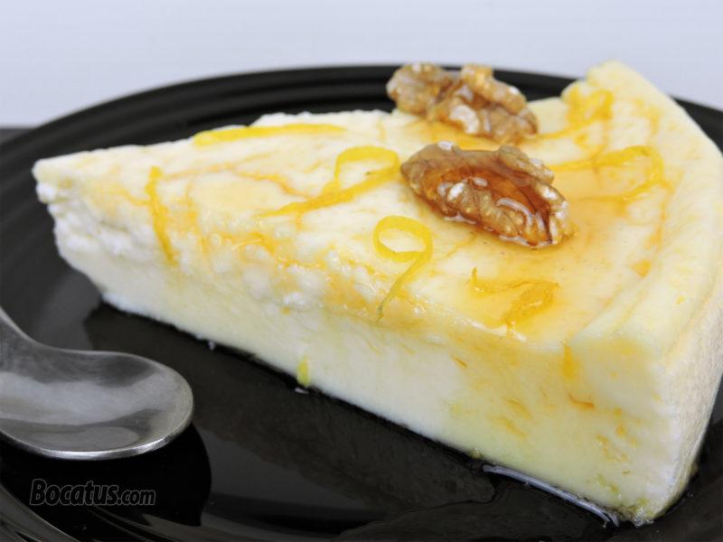 Tarta de queso, yogur y limón
