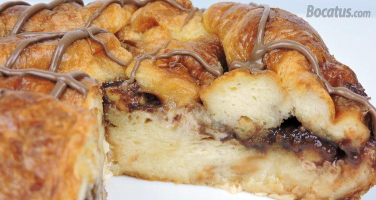Tarta de Cruasanes con Chocolate y Plátano
