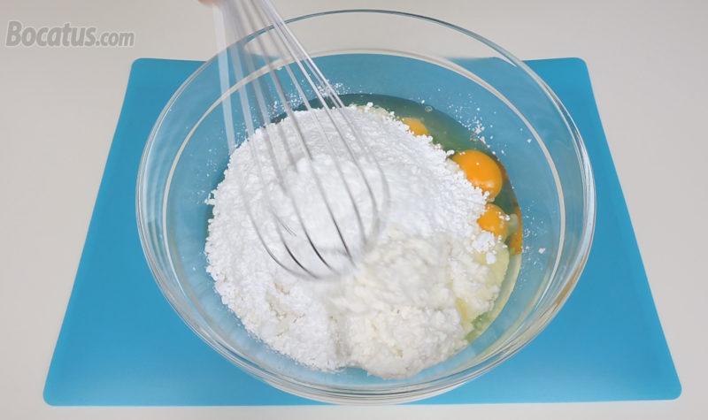 Preparando la masa de la tarta