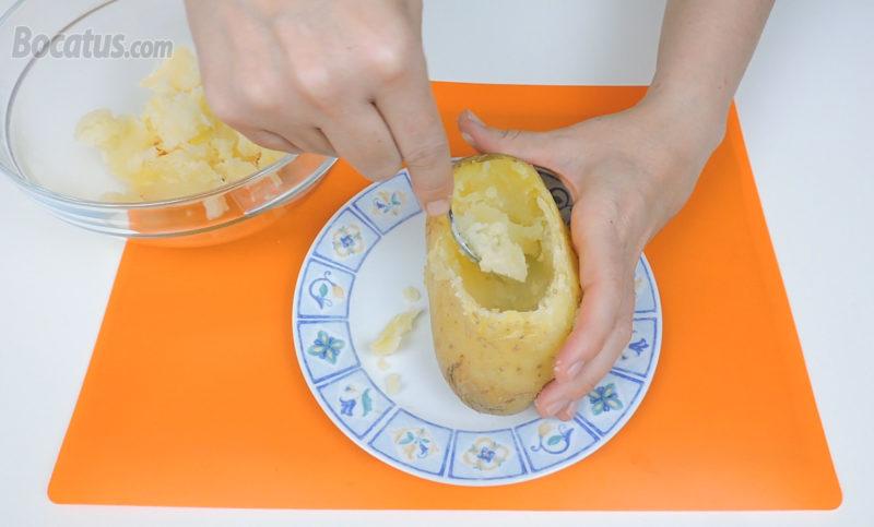 Vaciando la patata