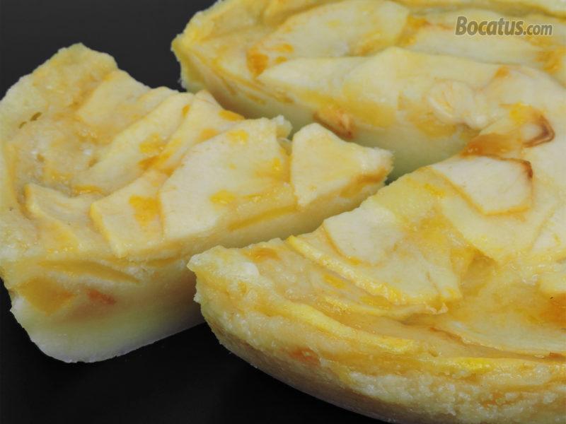 Tarta de manzana en microondas