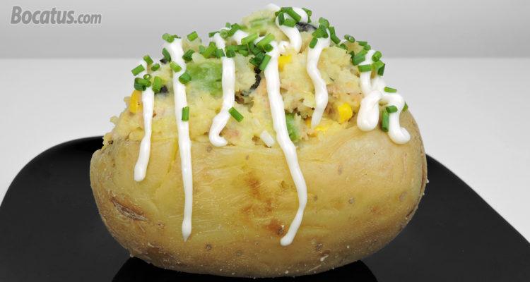 Patatas rellenas, sin horno, fáciles y deliciosas
