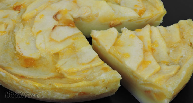 Tarta de manzana en 10 minutos (al microondas)