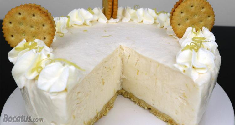 Tarta de limón helada