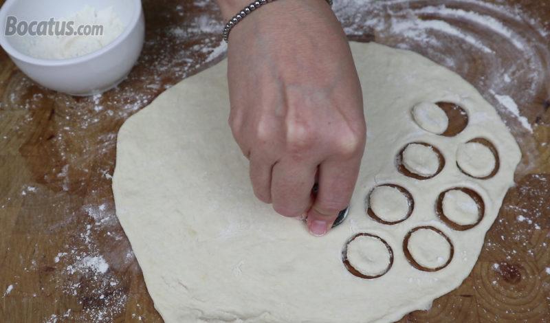 Formando los mini donuts