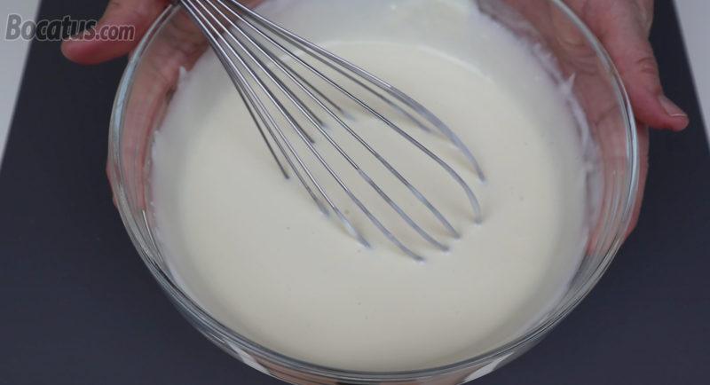 Mezcla de queso terminada