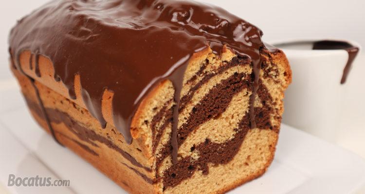 BIZCOCHO MARMOLADO de Cacahuete y Chocolate