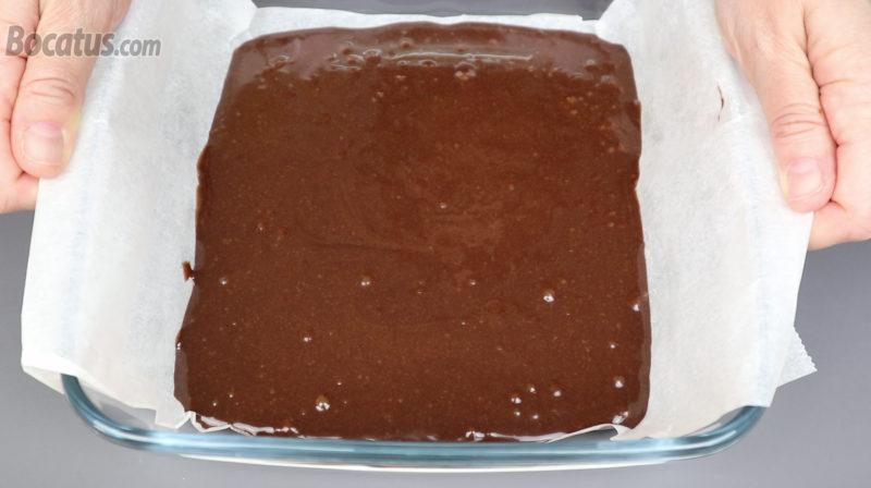 Brownie antes de ser cocinado en el microondas