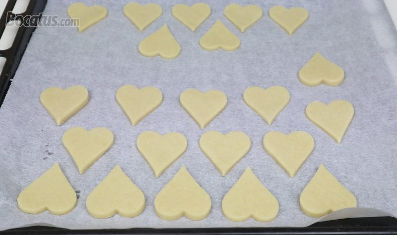 Galletas de corazón antes de hornear