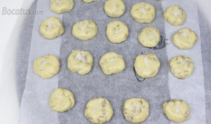 Galletas de pipas antes de hornear