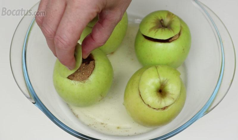 Manzanas antes de asar
