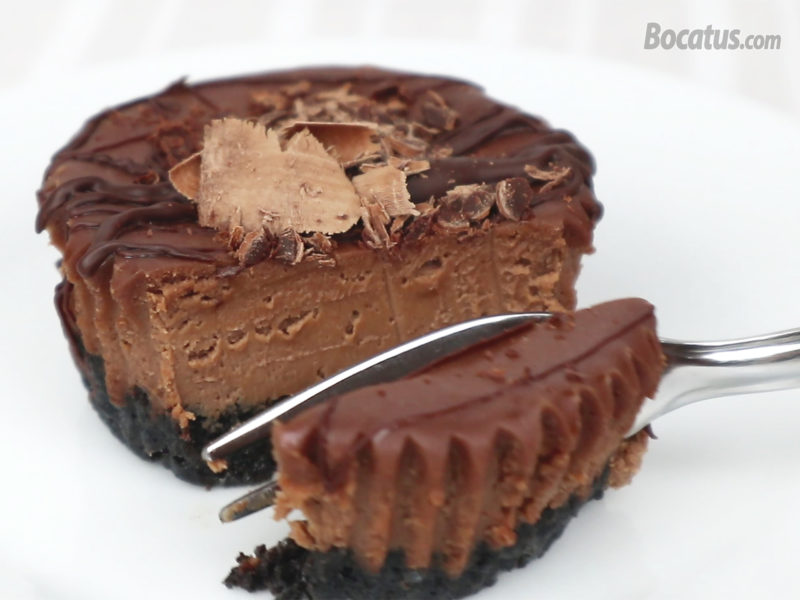 Mini cheesecake de chocolate