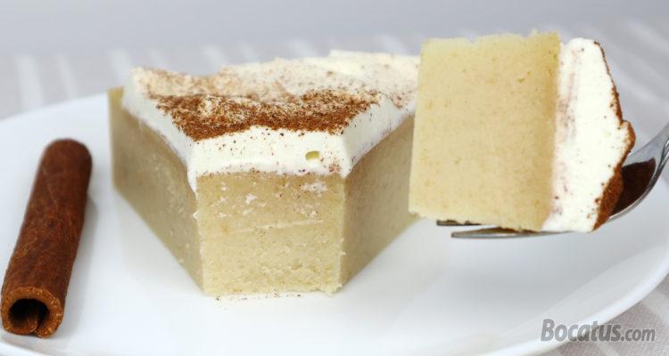 Tarta de pan, leche y canela