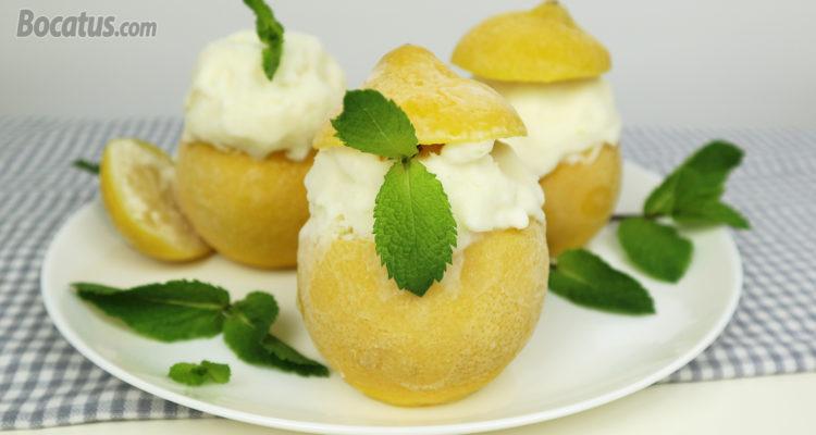 Limón helado de yogur griego