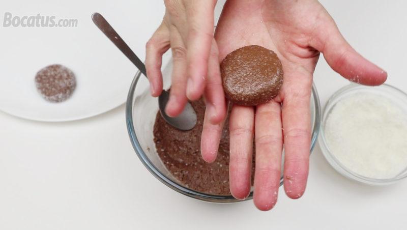 Formando las galletas de Nutella