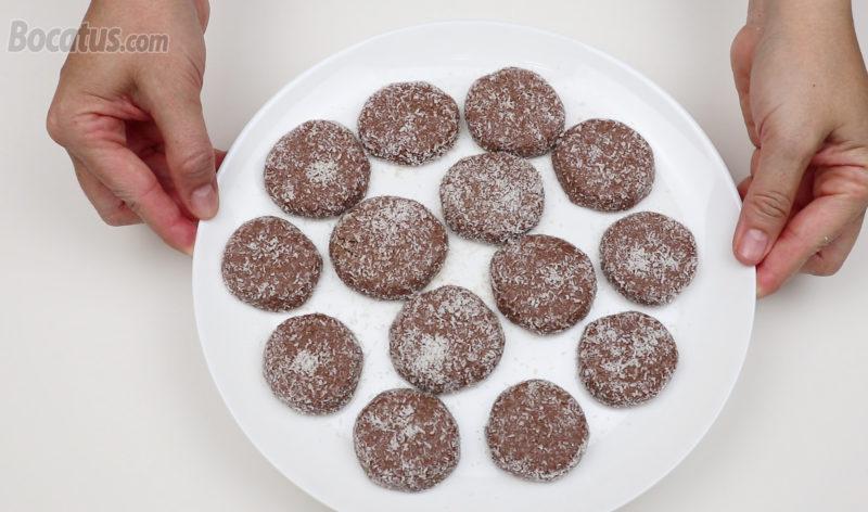 Galletas de Nutella formadas