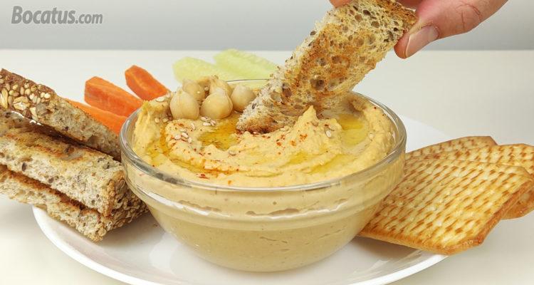 Cómo hacer Hummus casero de garbanzos