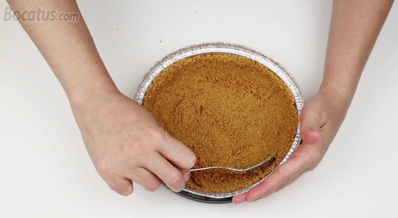 Preparando el recipiente de galleta
