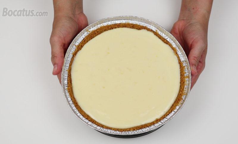 Tarta de limón antes de hornear