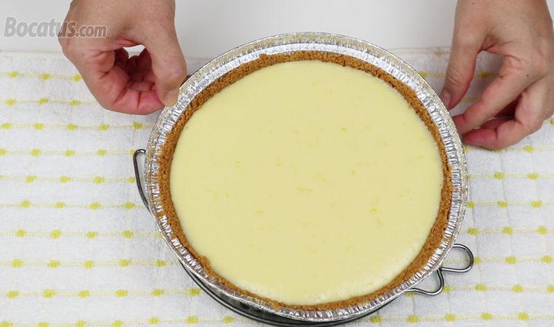 Tarta de limón recién horneada