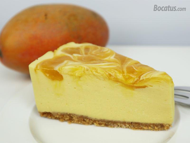 Cheesecake de mango y chocolate blanco